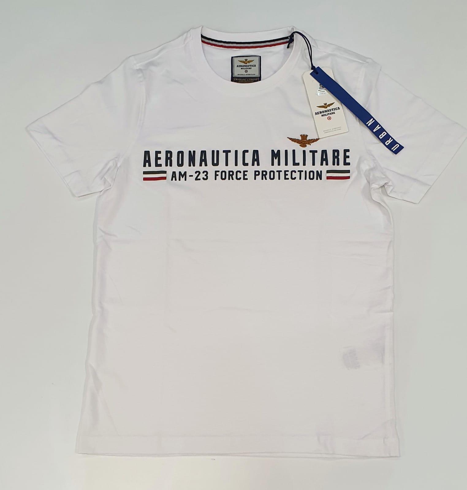 Aeronautica Militare TSHIRT Uomo stampa in silicone  bianco