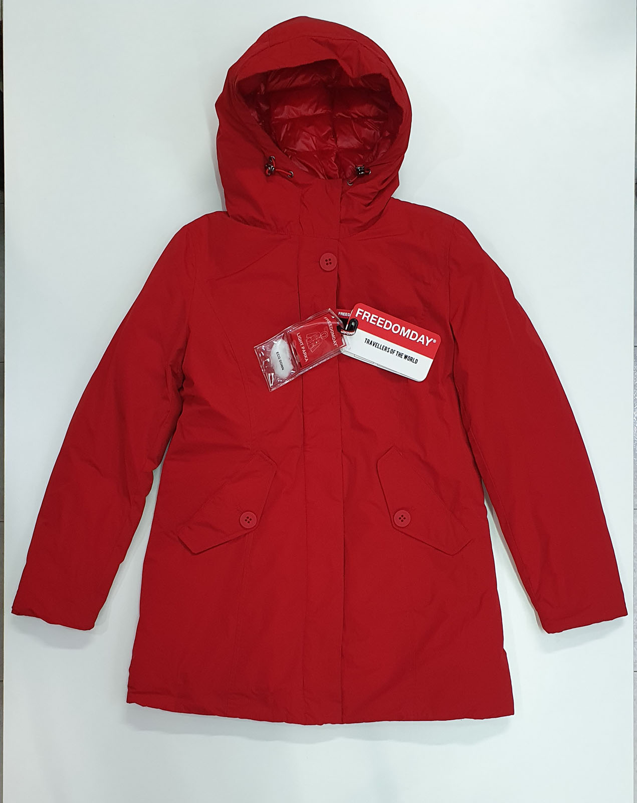 FREEDOMDAY LIGHT PARKA DALLAS ROSSO