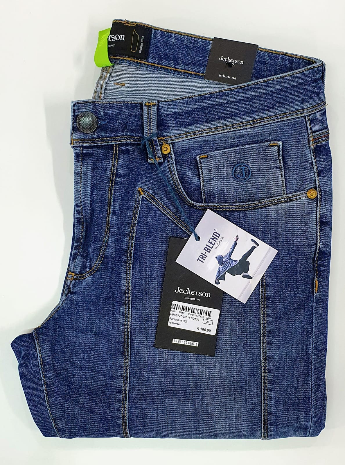 Jeans Jeckerson con toppa Blu Medio