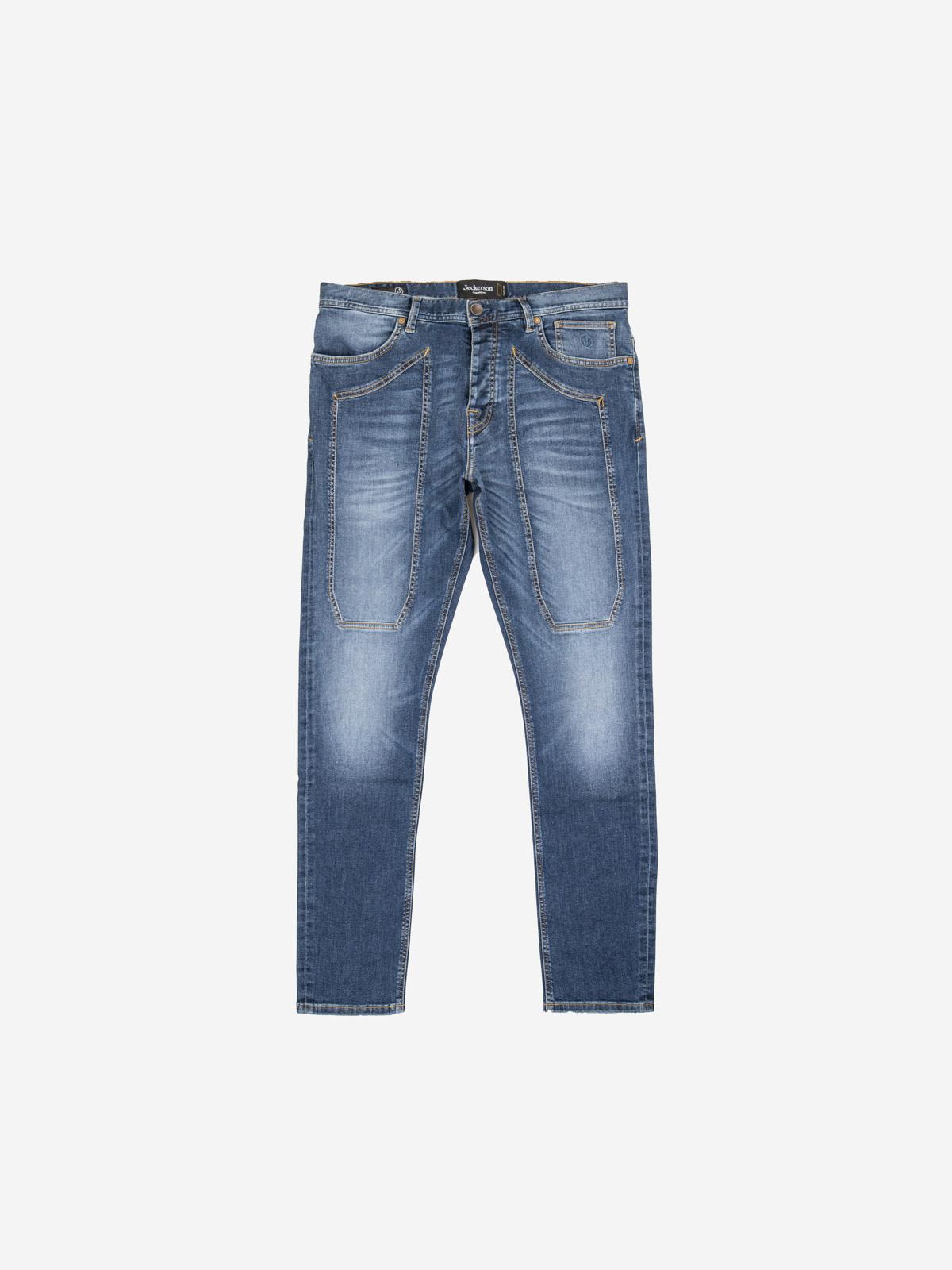 Jeans Jeckerson slim con toppa Blu medio