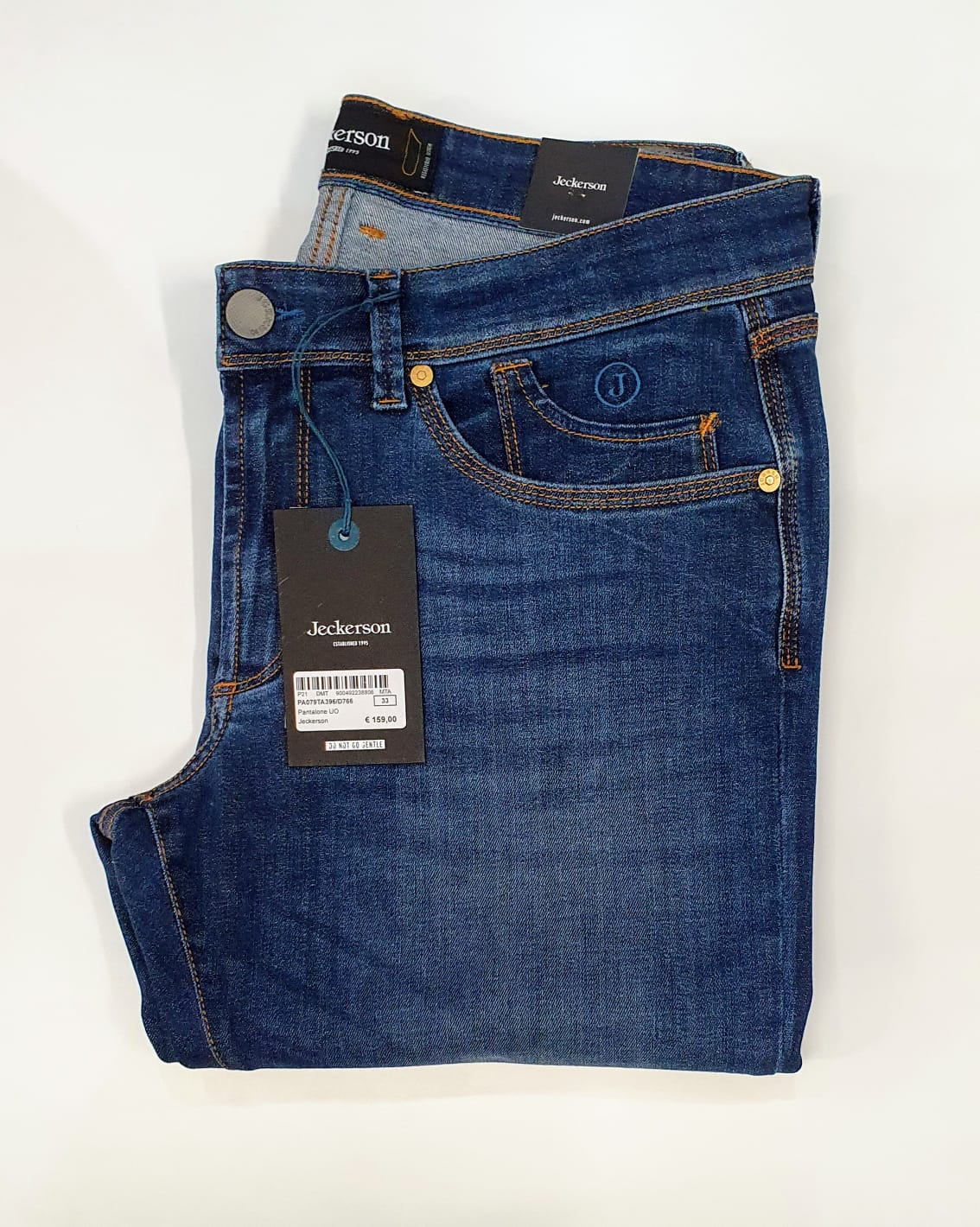 Jeckerson jeans cinque tasche slim senza toppa blu