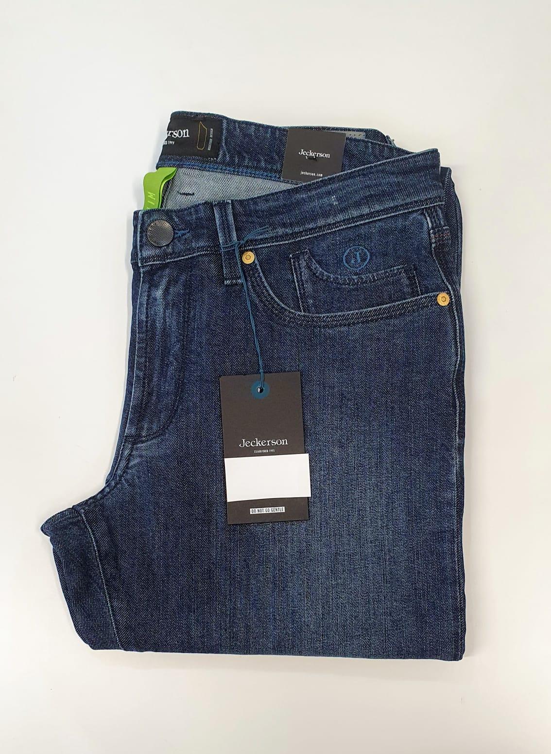 JECKERSON Jeans uomo 5 tasche slim in denim