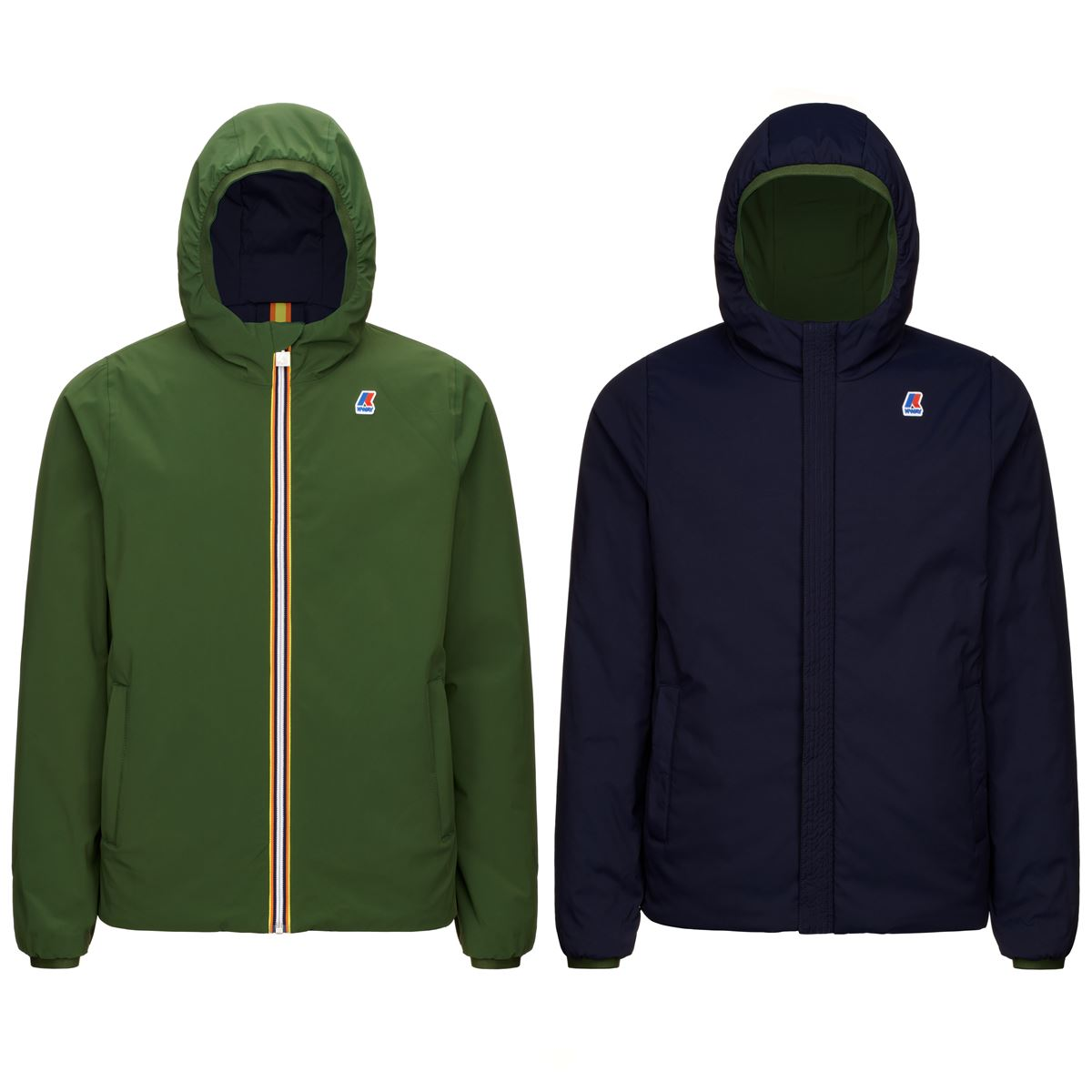 Kway Jacques Warm Double Verde Dk Foresta Blu Marittime