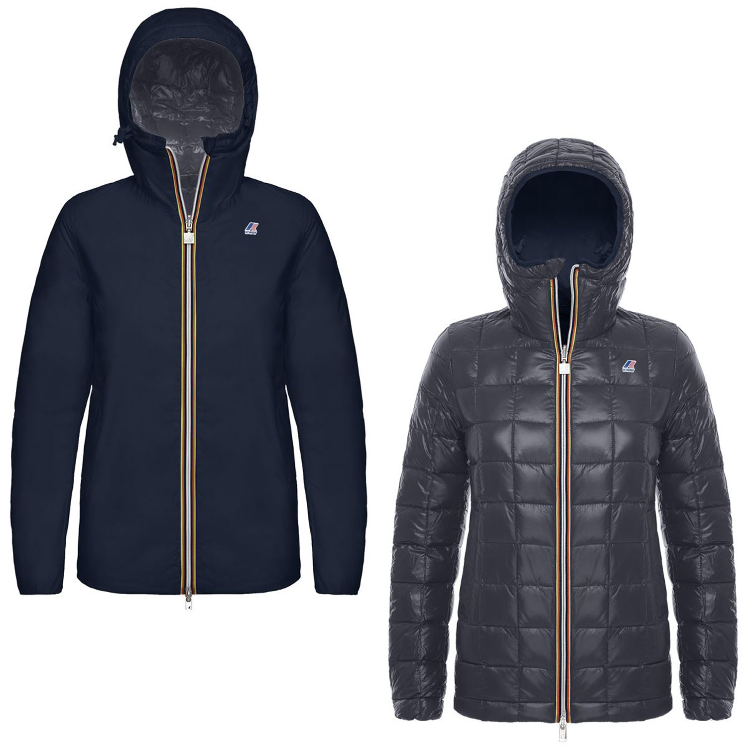 Kway Marguerite Thermo Plus Double Blu Grigio