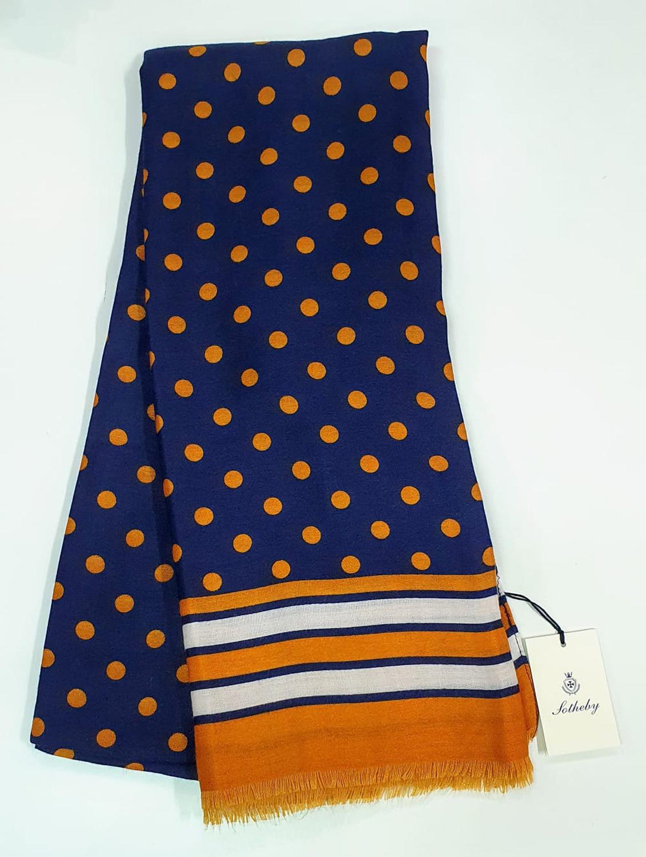 Stola fantasia pois blu arancio