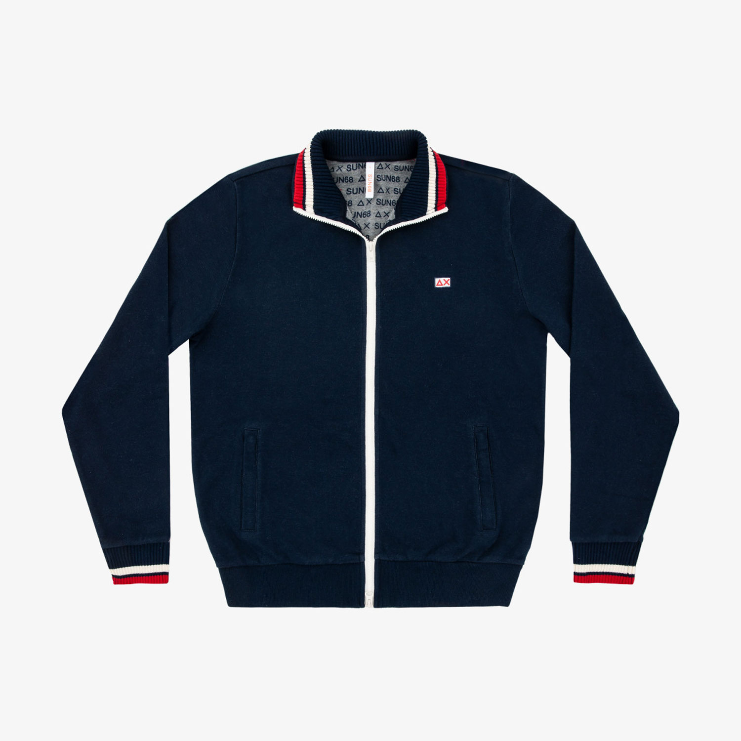 Sun68 Full Zip Heritage Cotton FL Blu Navy