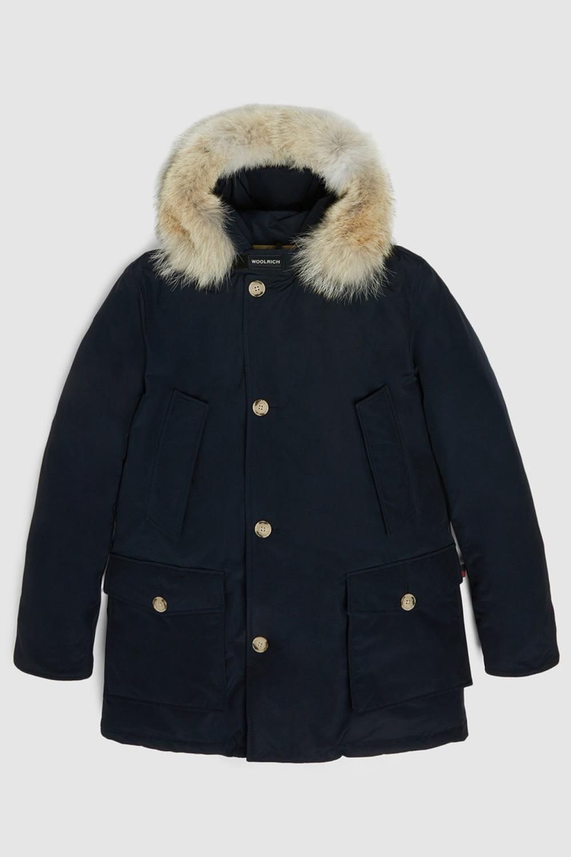 Woolrich Arctic Parka Df con pelliccia removibile Blu melton