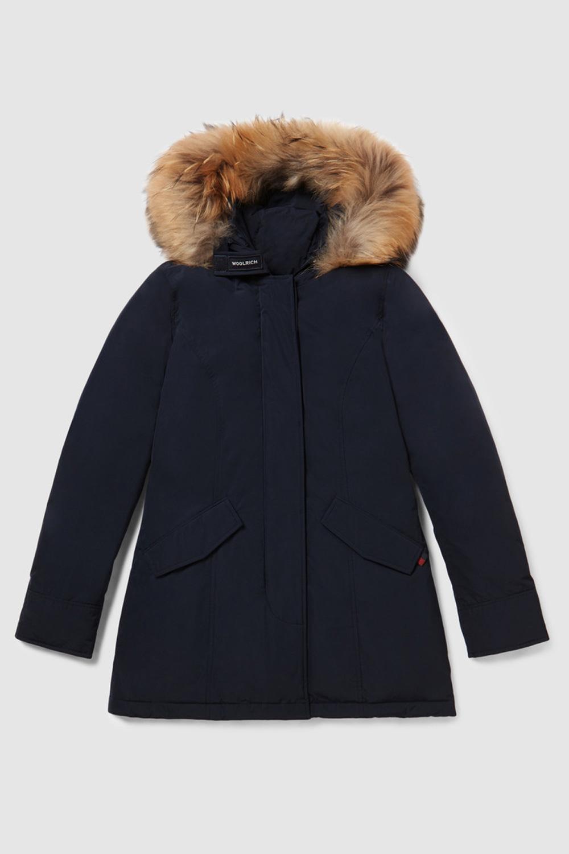 woolrich Arctic Parka luxury pelliccia racoon Blu notte