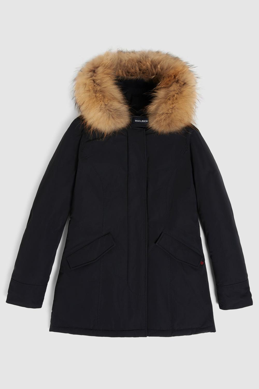 WOOLRICH Arctic Parka luxury pelliccia racoon Nero