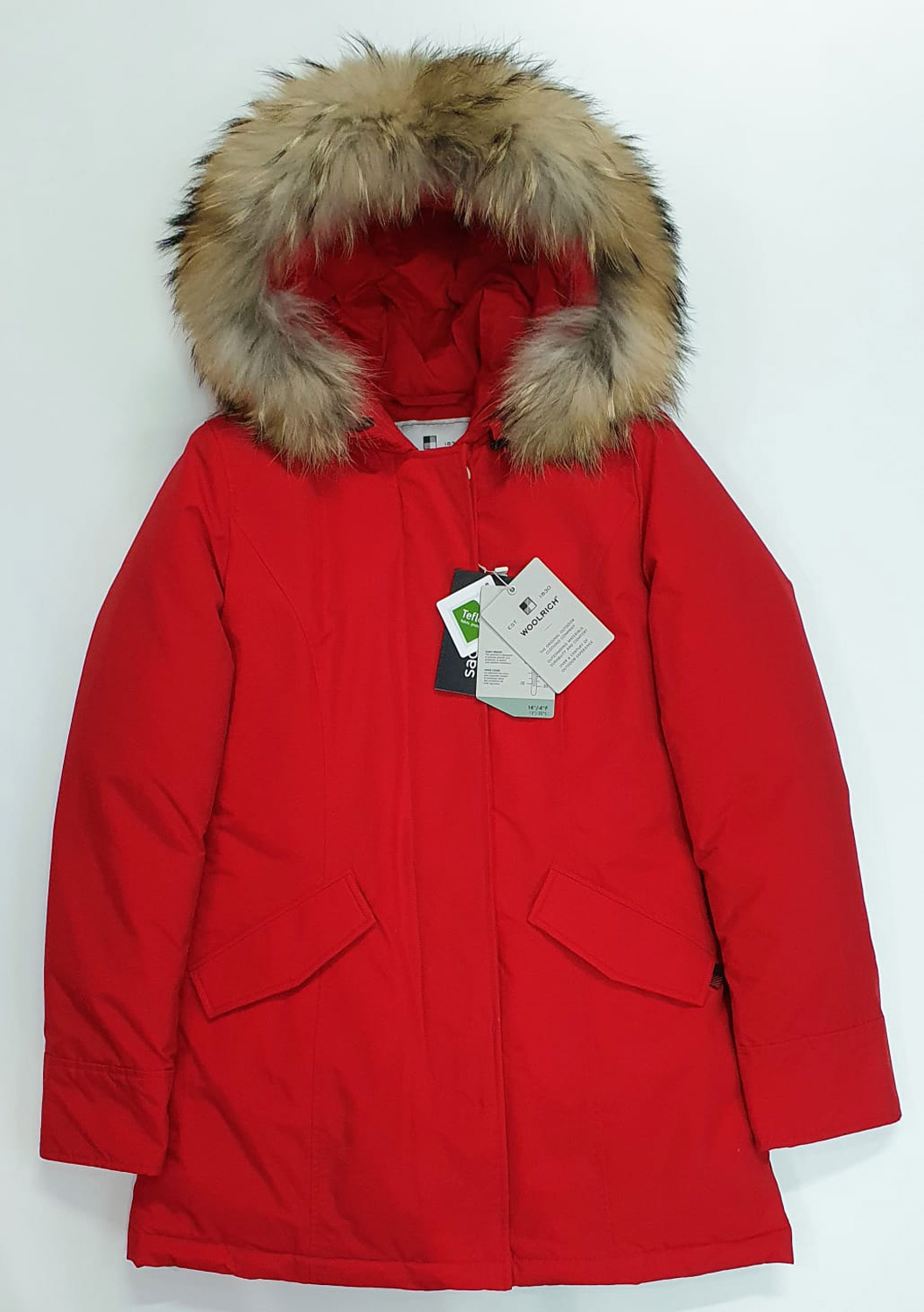 Woolrich Arctic Parka pelliccia racoon rosso