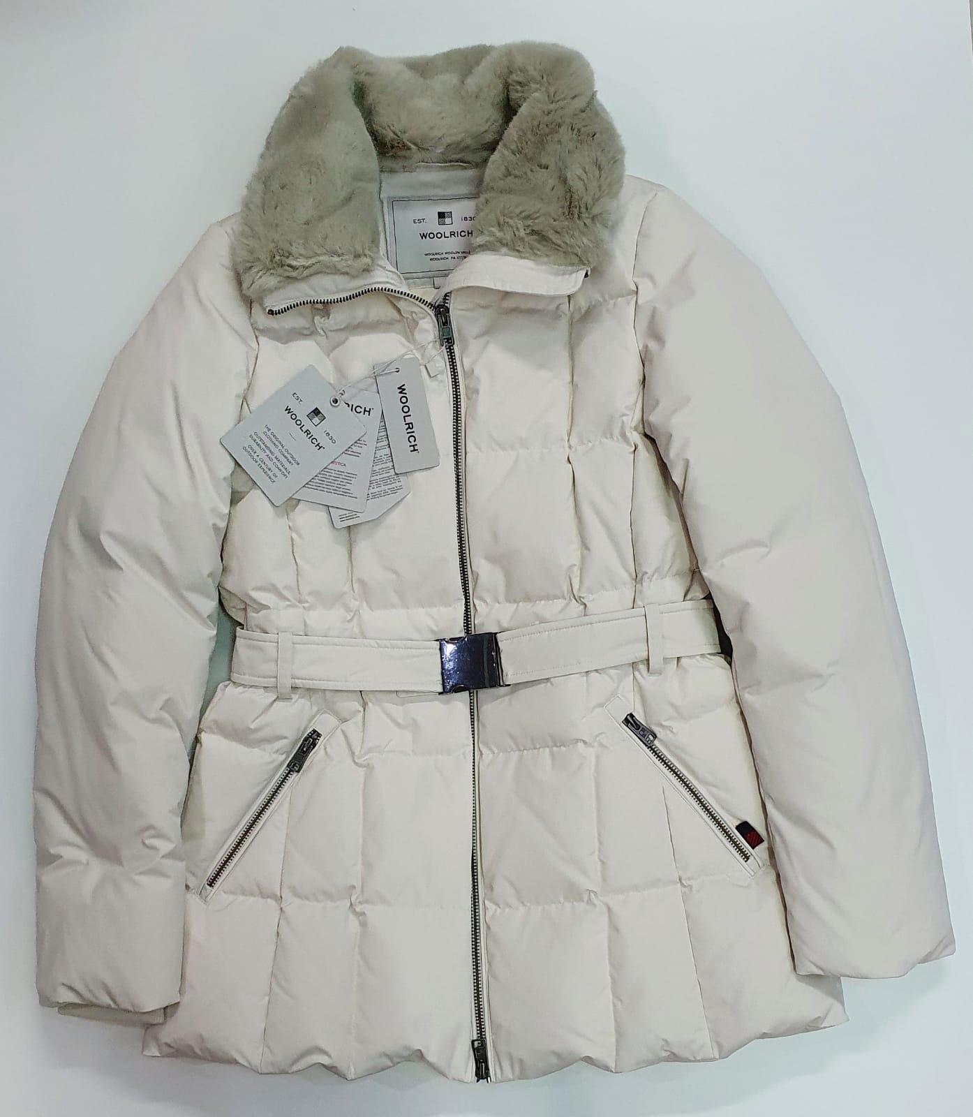 Woolrich Donna Blizzard con pelliccia sintetica bianco