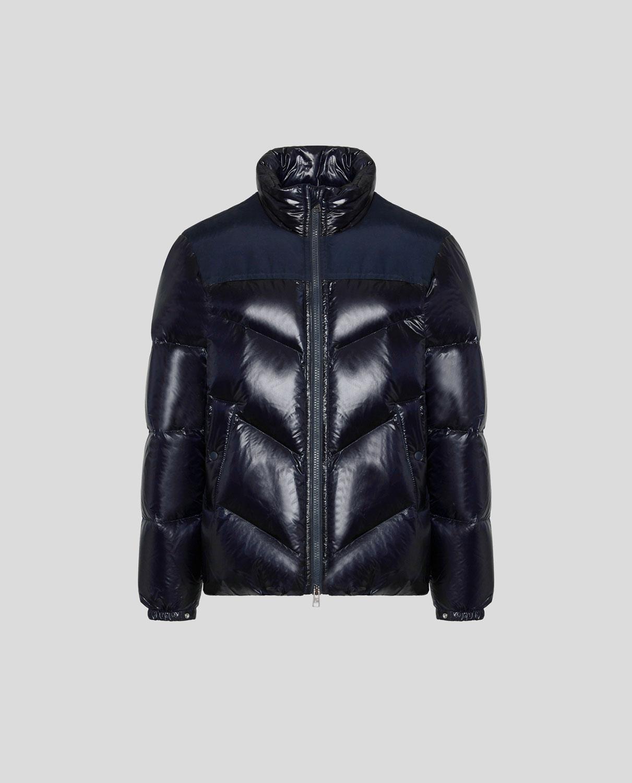 Woolrich Logo Arctic Jacket Melton Blu