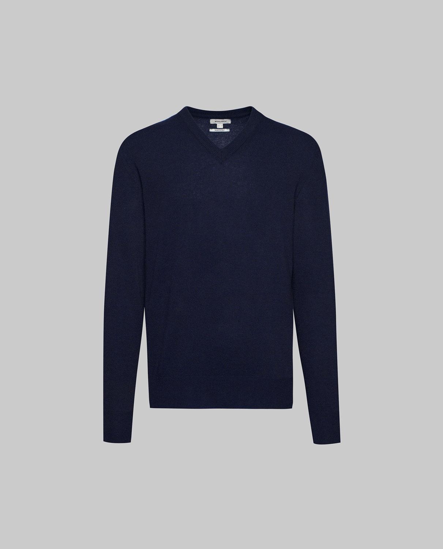 Woolrich Supergeelong V-Neck Melton Blu