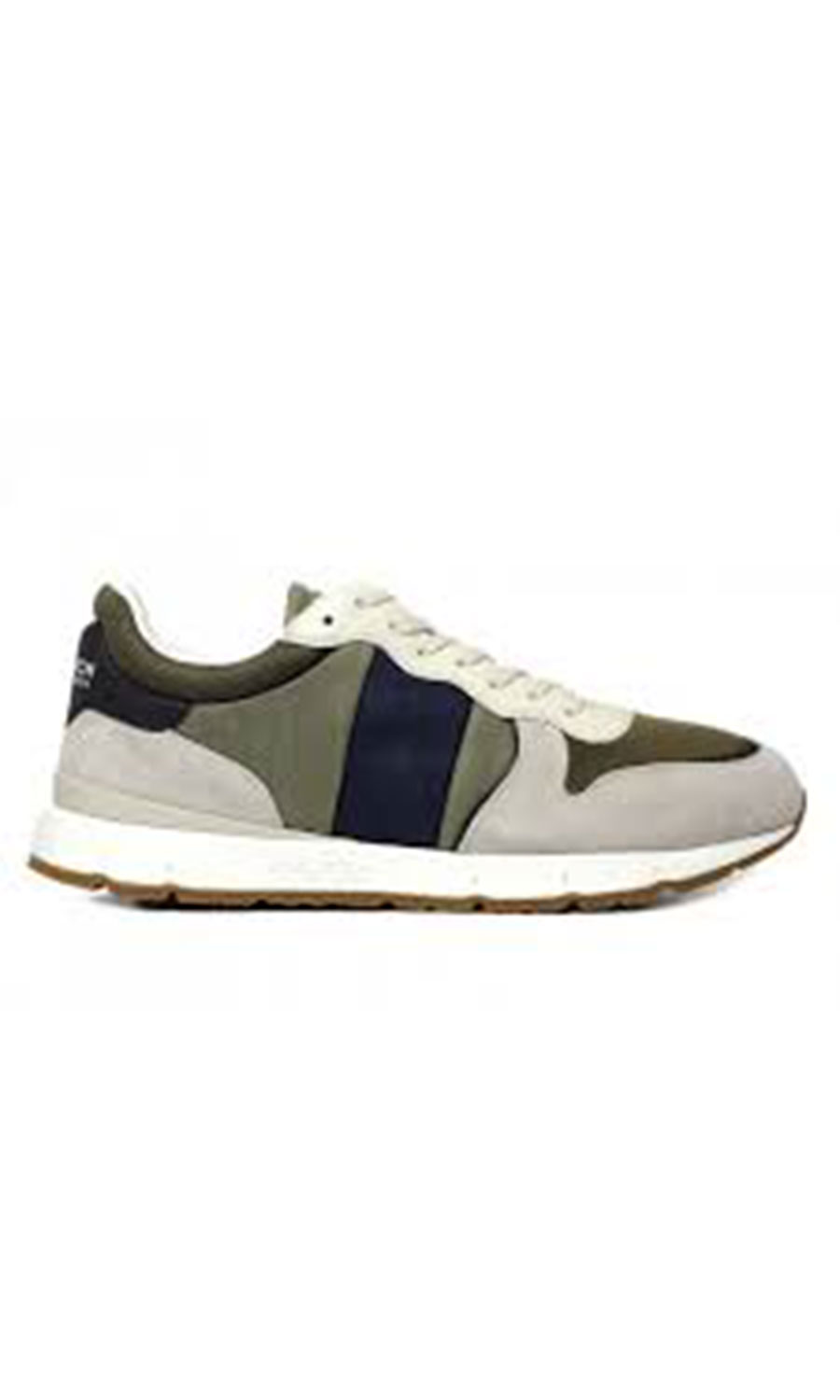WOOLRICH Uomo Sneaker Suede Shipped Crema Verde