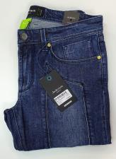 Jeans Jeckerson con toppa cuciture in tinta Blu Scuro