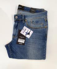 Jeckerson jeans tri-blend 5 tasche senza toppa slim  blu chiaro